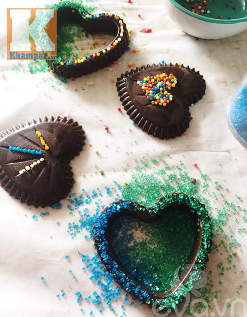 Tự làm kẹo socola trái tim tặng người ấy dịp Valentine - 6