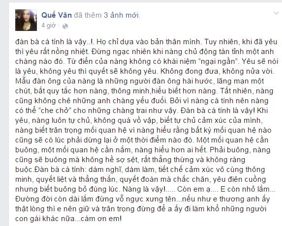 Facebook sao 15/2: Quế Vân gây sốc với tâm thư 'đá xoáy' - 2