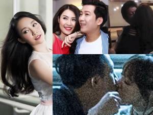Những nụ hôn nóng bỏng 'gây bão' làng giải trí Việt