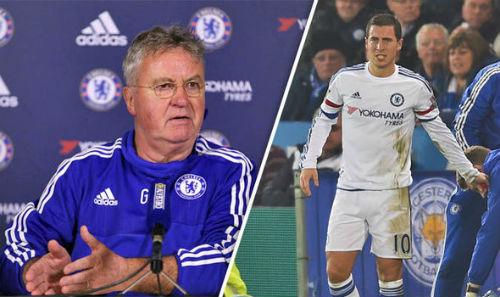 """""""Tơ tưởng"""" PSG, Hazard bị HLV Hiddink cảnh báo - 1"""