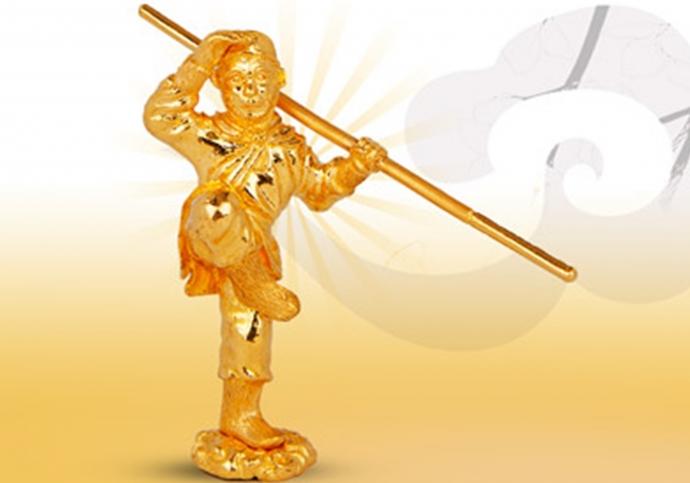 Độc đáo linh vật bằng vàng trong ngày Vía Thần Tài - 2