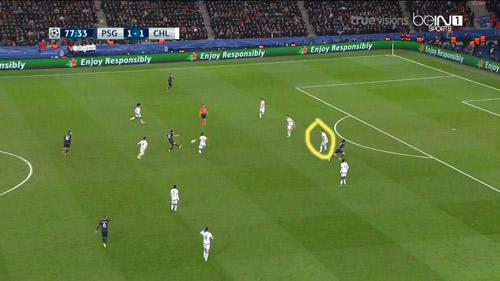 """Góc chiến thuật PSG - Chelsea: """"Đánh hội đồng"""" Ivanovic - 9"""