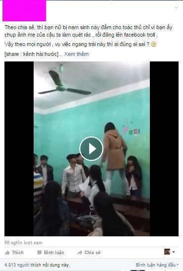Nữ sinh bị chửi oan vì 'chụp ảnh lao công' đăng Facebook - 2