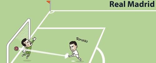 Tranh vui: MU, Arsenal bắt chước 11m kiểu Messi-Suarez - 6