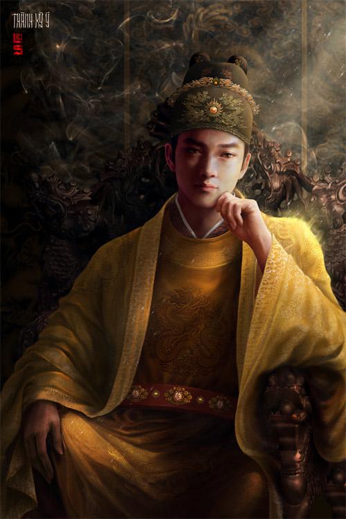"""Vua chúa Lê Sơ đẹp """"mê hồn"""" trong tranh của chàng trai 9x - 3"""