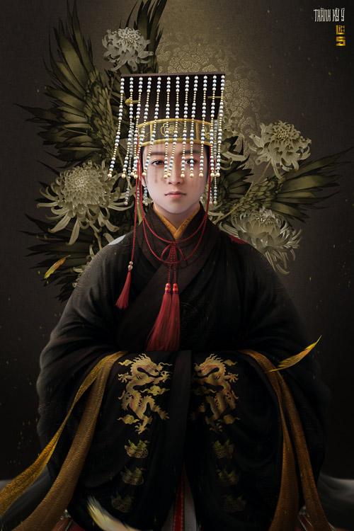 """Vua chúa Lê Sơ đẹp """"mê hồn"""" trong tranh của chàng trai 9x - 4"""