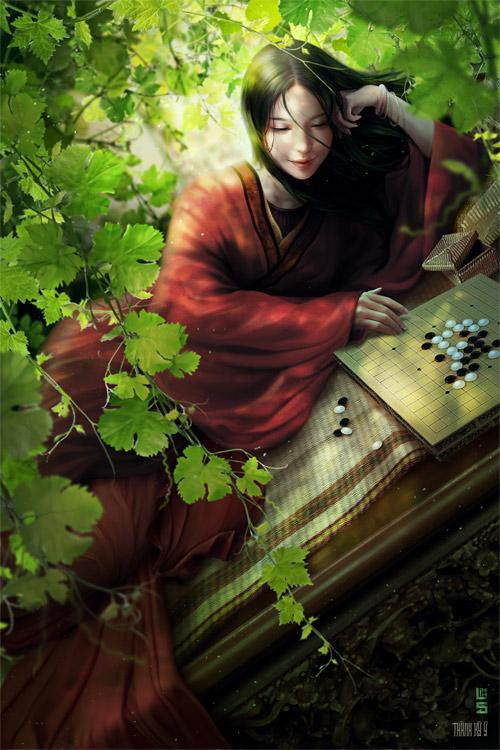 """Vua chúa Lê Sơ đẹp """"mê hồn"""" trong tranh của chàng trai 9x - 6"""