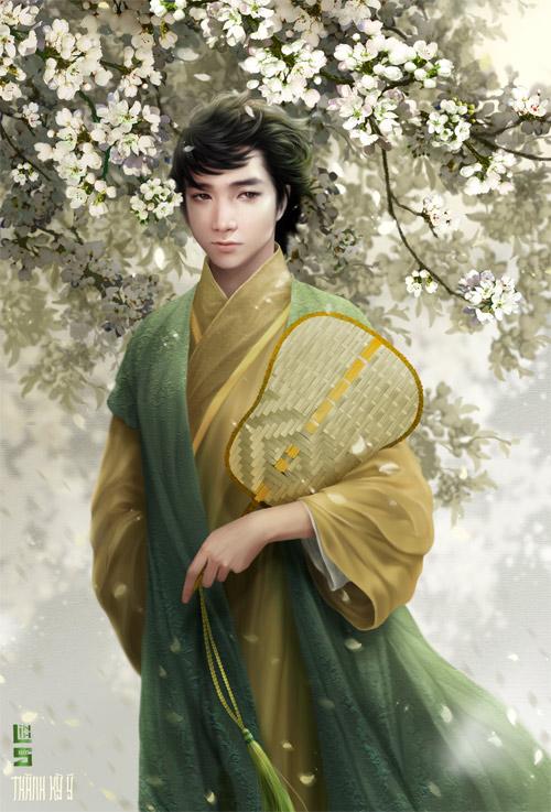 """Vua chúa Lê Sơ đẹp """"mê hồn"""" trong tranh của chàng trai 9x - 7"""