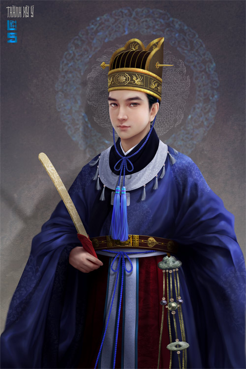 """Vua chúa Lê Sơ đẹp """"mê hồn"""" trong tranh của chàng trai 9x - 8"""