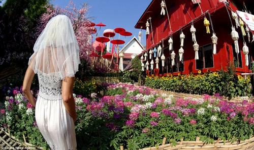 Ly hôn, người phụ nữ mặc váy cưới du lịch khắp thế giới - 6