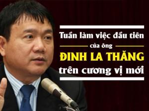 Tin tức trong ngày - [Infographic] Tuần làm việc đầu tiên của Bí thư Đinh La Thăng