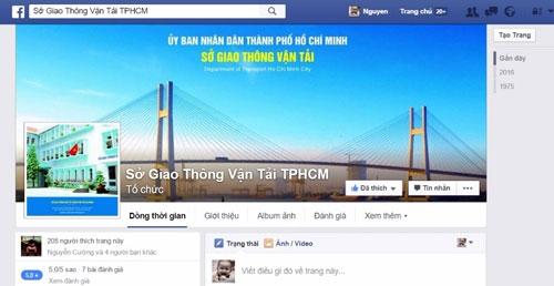 Sau điện thoại nóng của Bí thư Thăng, Sở GTVT lập Facebook - 1