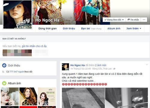 Facebook sao 21/2: Hà Hồ mở lại Facebook giữa thị phi - 1