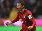 Bóng đá Đức - Thomas Muller móc bóng ghi siêu phẩm Bundesliga