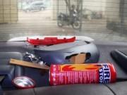 Tin tức trong ngày - Bình cứu hỏa phát nổ trong xe ô tô con ở Thanh Hoá