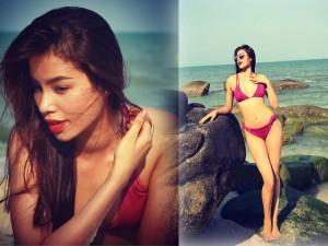 Thời trang - Phạm Hương siêu sexy với bikini trên bãi biển Thái Lan