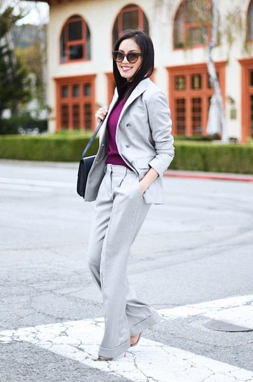 Bí quyết để quý cô công sở đẹp mê hoặc với suit - 3