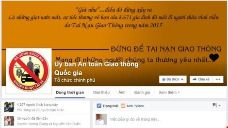 Ủy ban ATGT lập facebook nhận góp ý từ người dân - 1
