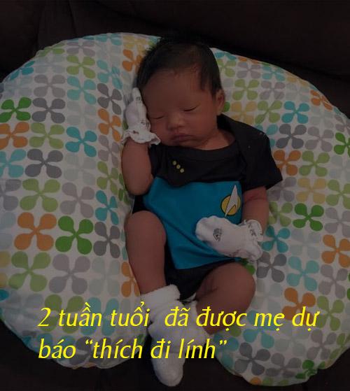 """Dáng ngủ đáng yêu của """"hoàng tử bé"""" nhà Ngọc Quyên - 2"""