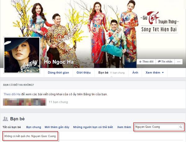 Quốc Cường cắt đứt quan hệ với Hà Hồ trên Facebook - 2