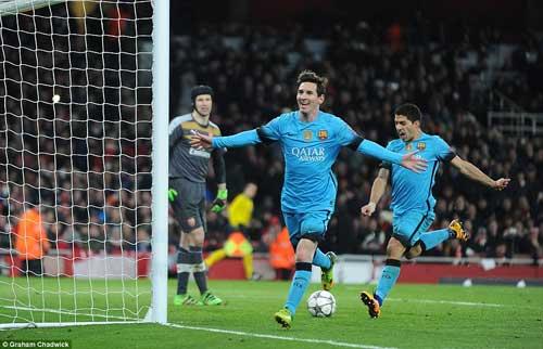 """Sôi động cúp C1 24/2: Messi """"phá dớp"""" trước Cech - 1"""