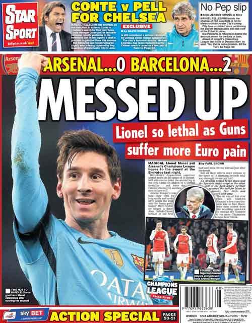 """Báo Anh: Arsenal cúi đầu trước """"thiên tài"""" Messi - 1"""