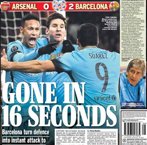 """Báo Anh: Arsenal cúi đầu trước """"thiên tài"""" Messi - 3"""