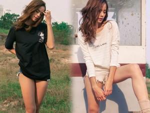 Thời trang - Mê mẩn cặp chân dài 1,1m của người mẫu Thu Hiền