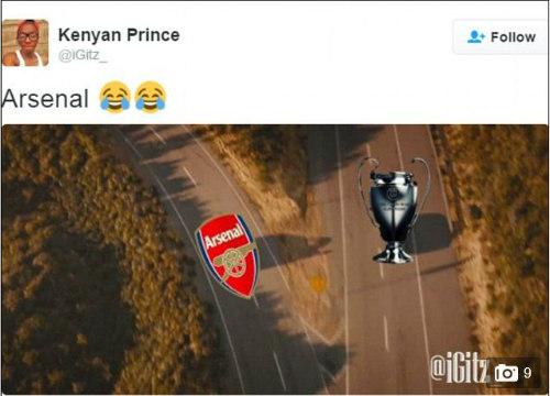 Ảnh chế Arsenal thua Barca: Messi hạ knock-out Cech - 3