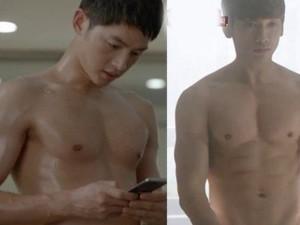 Giải trí - Song Joong Ki khoe body lấn lướt Bi Rain