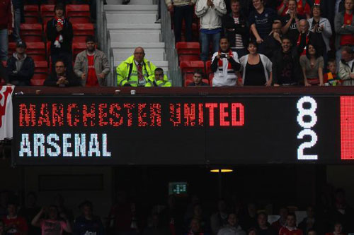 """Top 10 cuộc đọ sức """"không khoan nhượng"""" giữa M.U với Arsenal - 1"""
