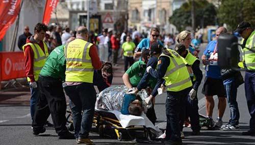 Vận động viên marathon đột tử khi gần về đích - 1