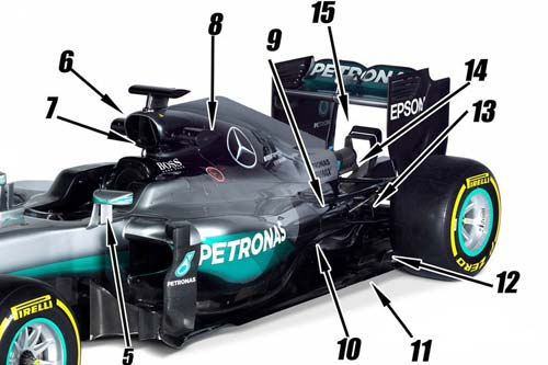 """F1, Mercedes W07: Vẫn là """"chiến mã"""" vô địch - 2"""