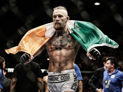 """""""Gã điên UFC"""" tẩn đối thủ, họp báo hỗn loạn - 2"""