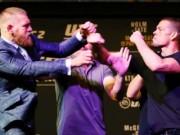 """Thể thao - """"Gã điên UFC"""" tẩn đối thủ, họp báo hỗn loạn"""