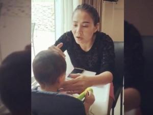 Thu Minh khoe giọng khủng khi hát dỗ con bằng tiếng Anh