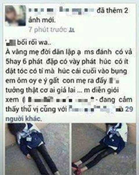 Nữ sinh đánh bạn đến ngất xỉu rồi khoe trên Facebook - 1