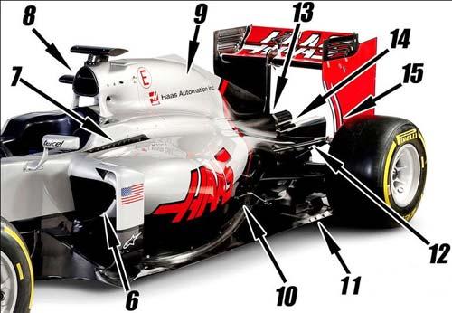 Tân binh Haas F1:  Chiếc xe mới, thiết kế phổ biến - 2