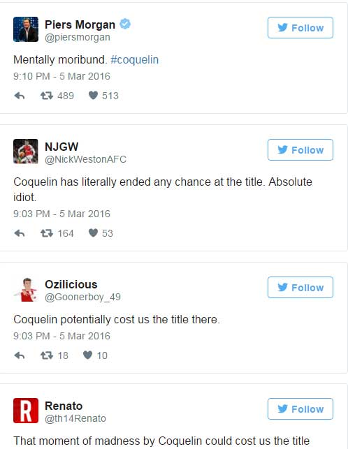 "Arsenal: ""Tội đồ"" Coquelin bị fan chế giễu - 2"
