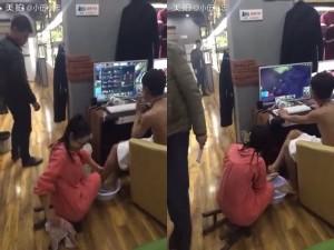 Giới trẻ - Clip: Bạn gái rửa chân cho game thủ tại quán net
