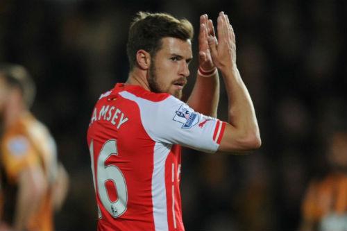 """Ramsey ghi bàn, """"lời nguyền"""" ám ảnh cũ trở lại - 1"""