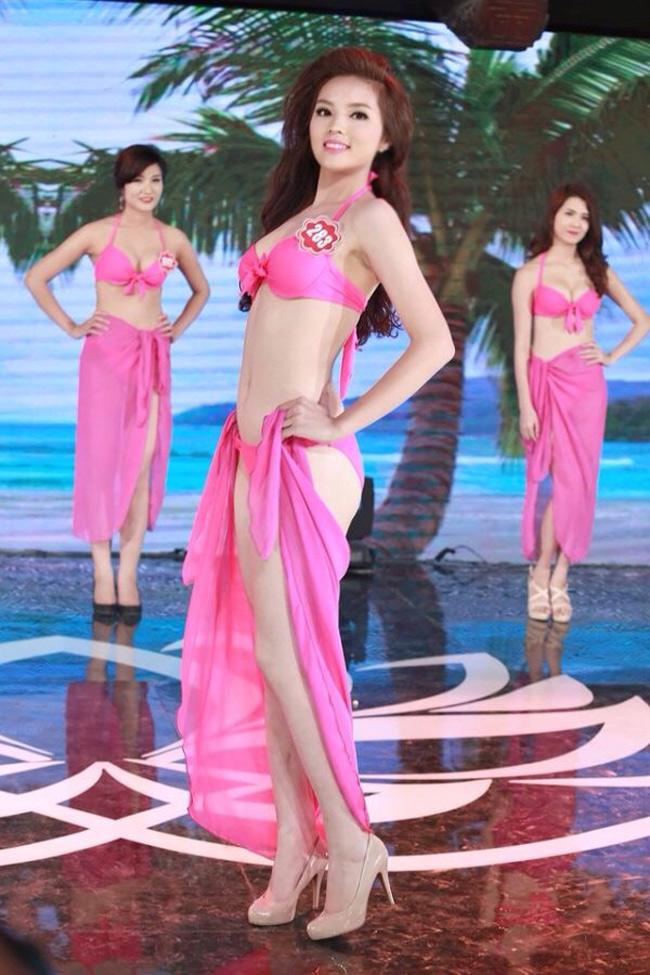 Hình ảnh Kỳ Duyên ở thời điểm dư thi Hoa hậu Việt Nam 2014.