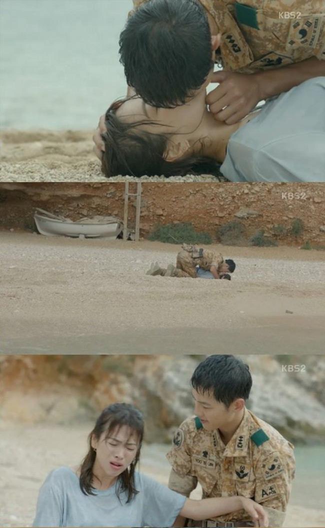 Màn hô hấp nhân tạo của trai đẹp với Song Hye Kyo gây sốt - 1