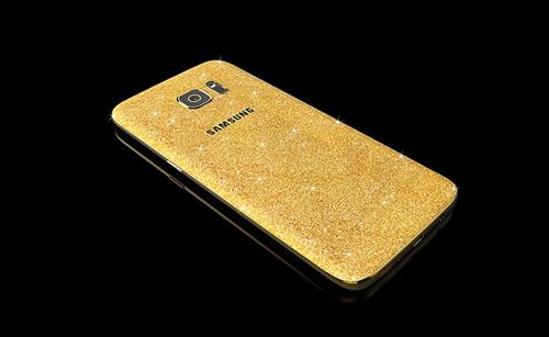 Samsung Galaxy S7 mạ vàng 24 karat lấp lánh - 1