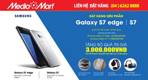 Đặt trước Samsung Galaxy S7/S7 Edge – Nhận quà khủng tại MediaMart - 1