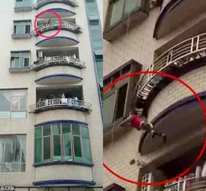 Rơi từ tầng 4 xuống, cậu bé may mắn thoát chết - 1
