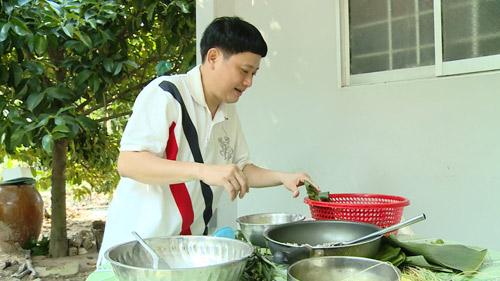 Danh hài Tấn Bo về Bến Tre học làm bánh - 6