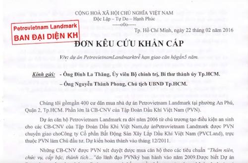 """Cầu cứu Bí thư Đinh La Thăng vì chung cư bị """"đắp chiếu"""" - 3"""