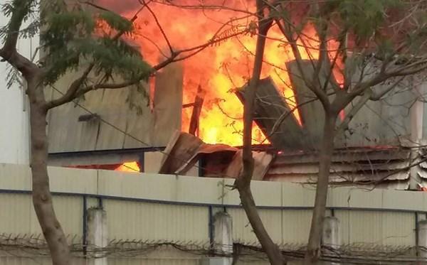 Ngọn lửa bao trùm xưởng gỗ 200m2, người dân hoảng loạn - 6