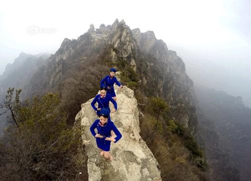 Tiếp viên hàng không lên núi học võ luyện can đảm - 5